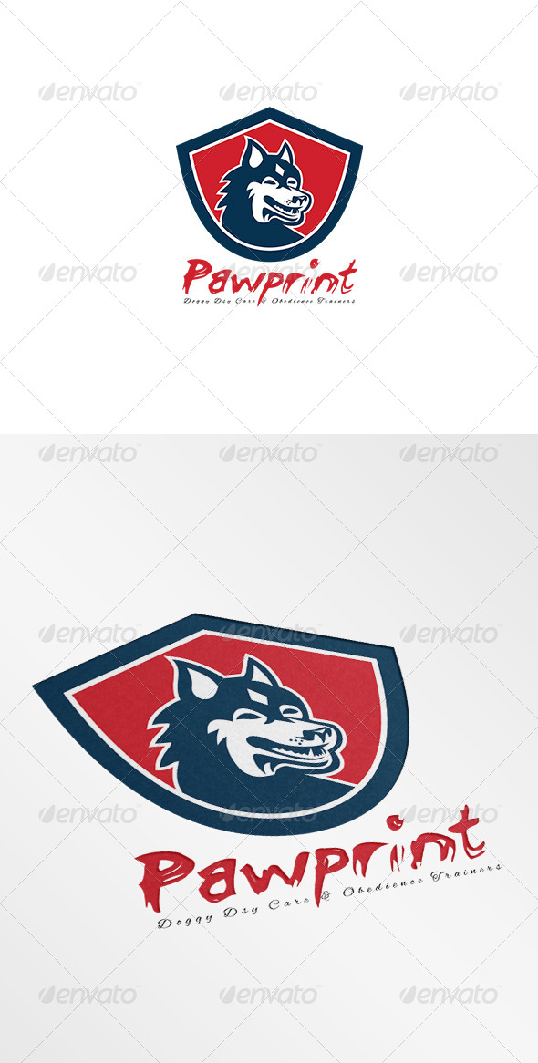 GraphicRiver Pawprint Doggy Day Care Logo 7648720