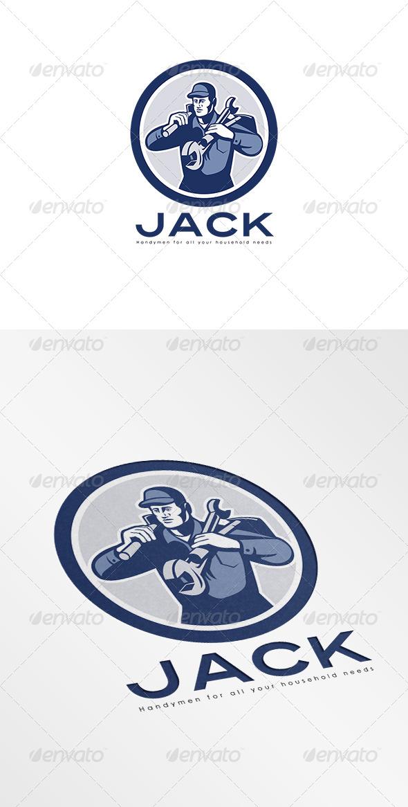 GraphicRiver Jack Handyman Logo 7648772