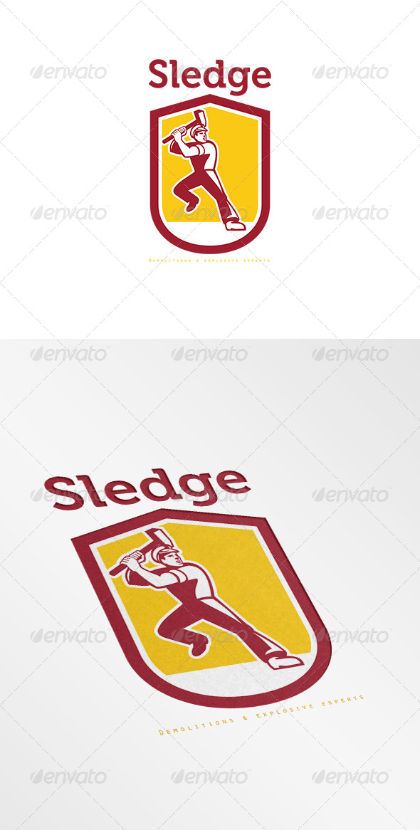 GraphicRiver Sledge Demolitions Specialist Logo 7648783