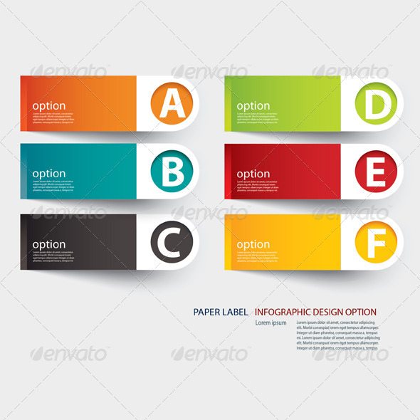 GraphicRiver Abstract Paper Cut Infographics Template 6884407