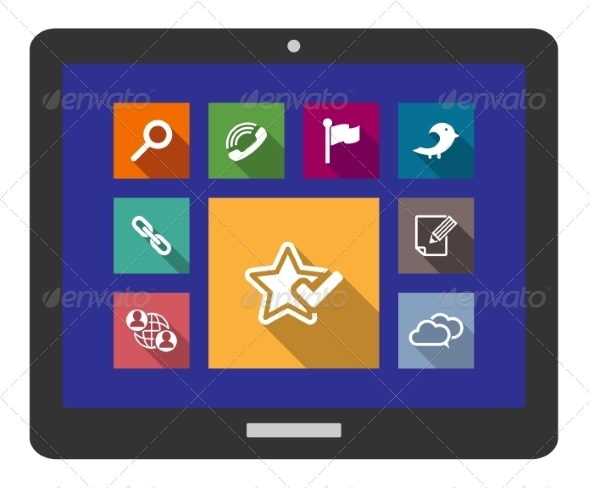 GraphicRiver Flat Media and Multimedia Icons 7648895