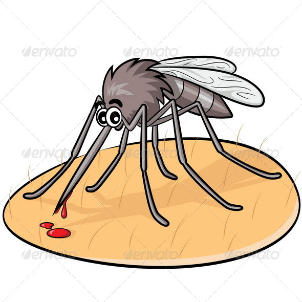 GraphicRiver Mosquito Cartoon 7648957