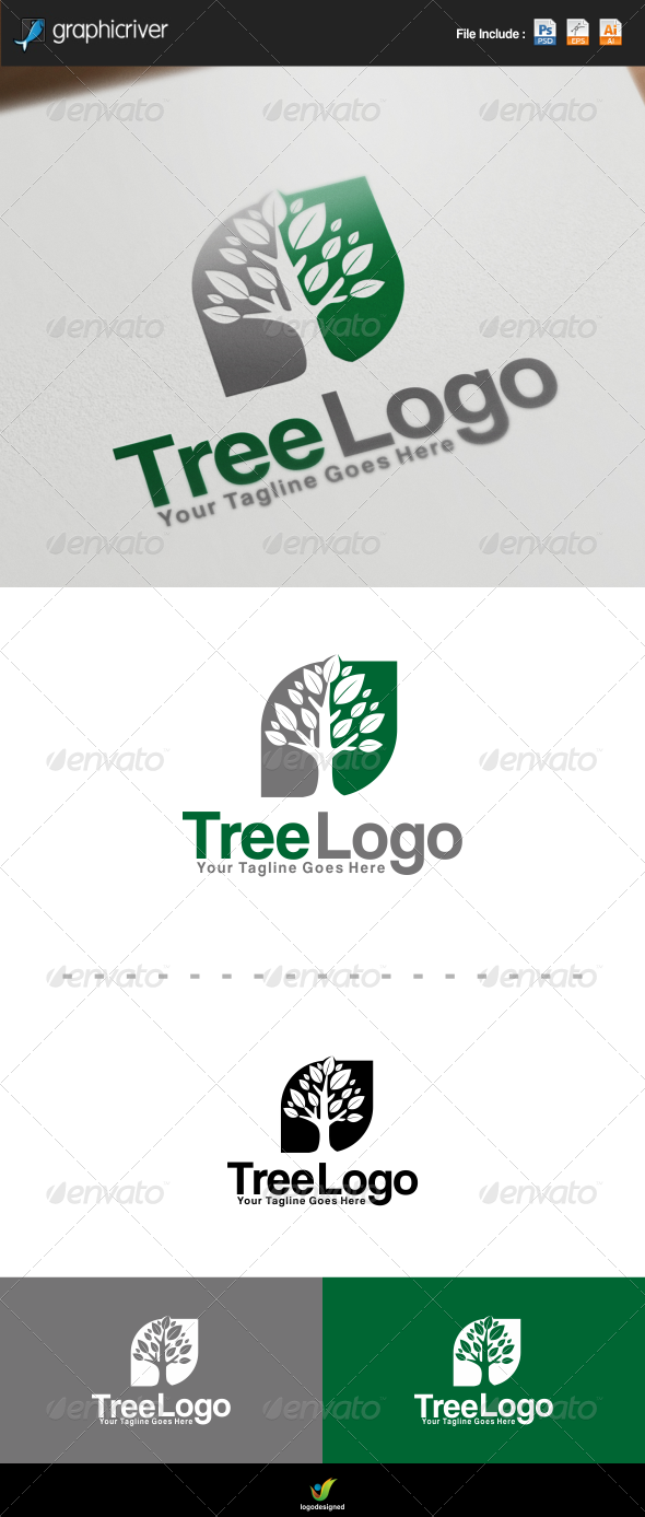 GraphicRiver Tree Logo 7649071