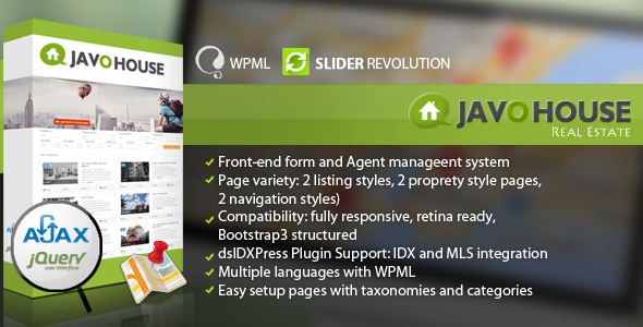ThemeForest Javo House Real Estate WordPress Theme 7508133