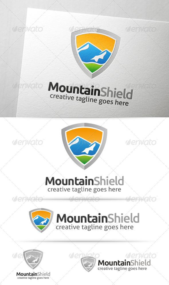 GraphicRiver Mountain Shield Logo 7649130