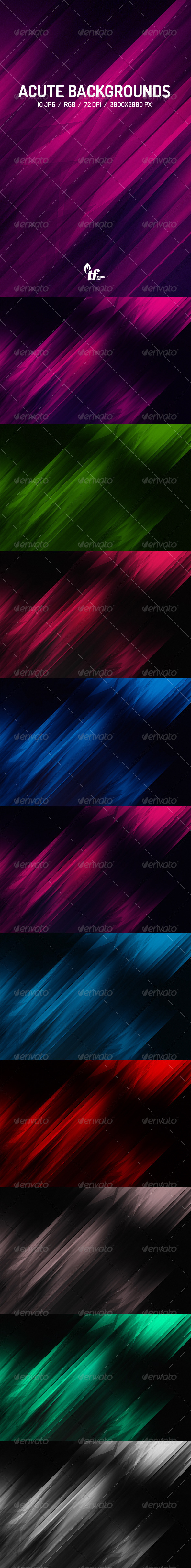 GraphicRiver Acute Backgrounds 7645962