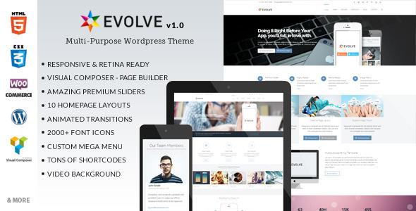 ThemeForest Evolve Multipurpose Wordpress Theme 7541690