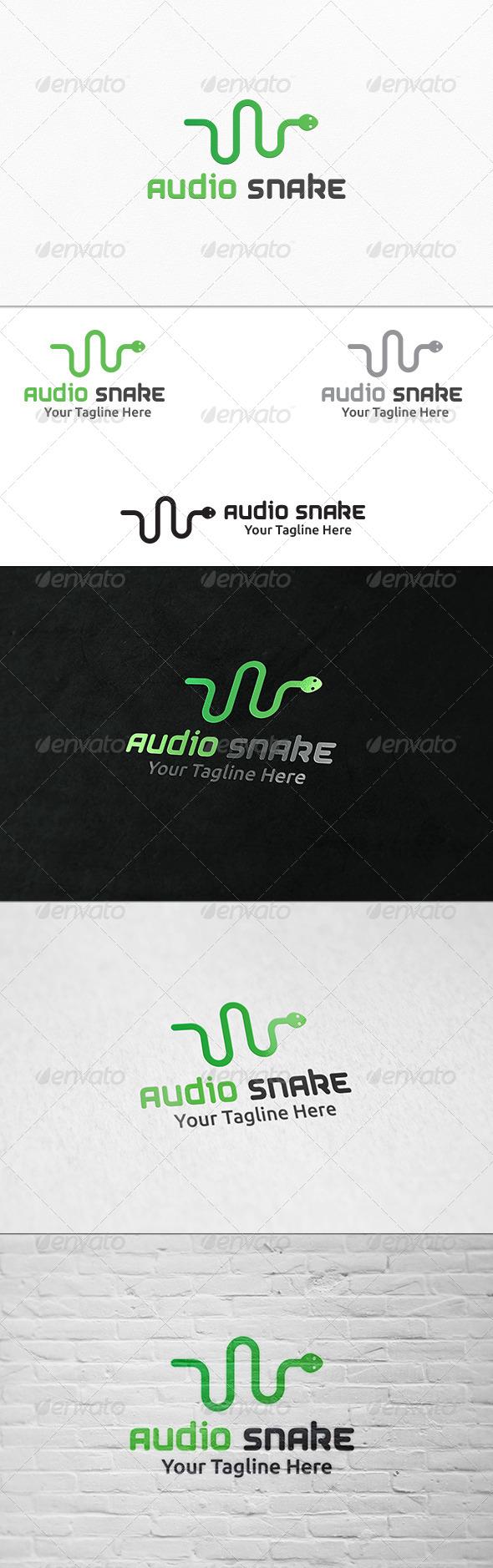 GraphicRiver Audio Snake Logo Template 7649348
