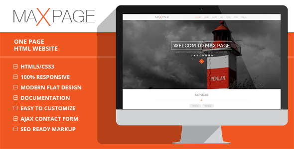 ThemeForest Maxpage One Page HTML5 Template 7629622