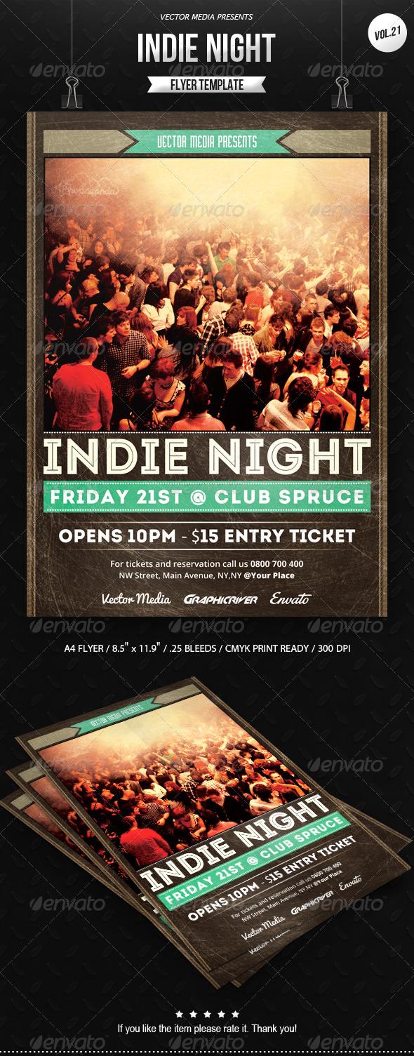 GraphicRiver Indie Night Flyer [Vol.21] 7649367