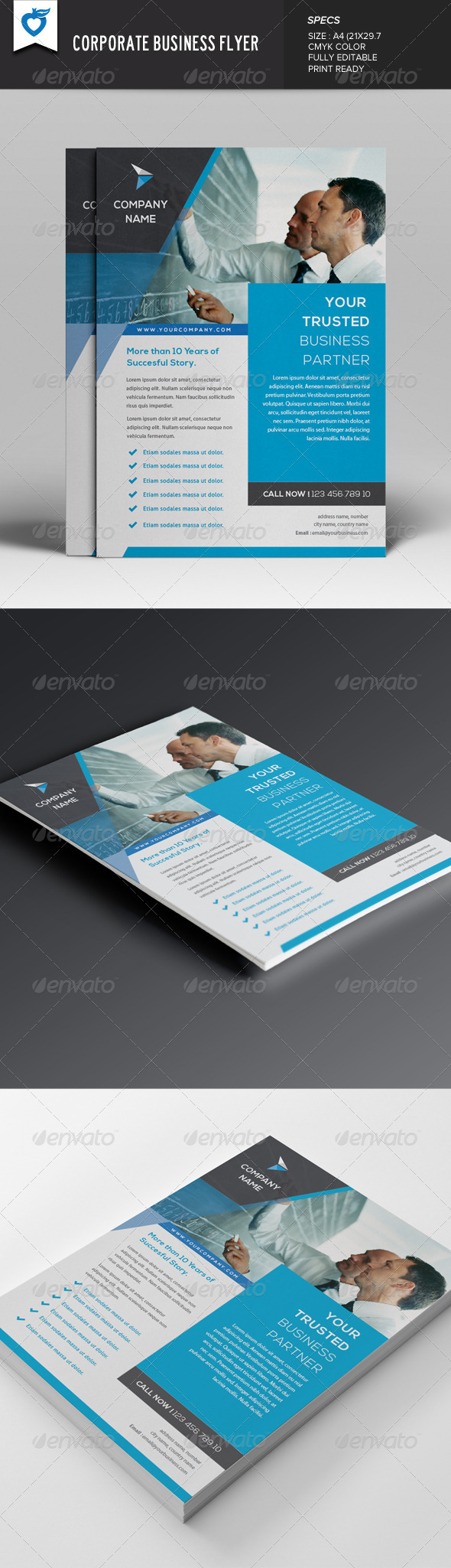 GraphicRiver Corporate Business Flyer 7649495