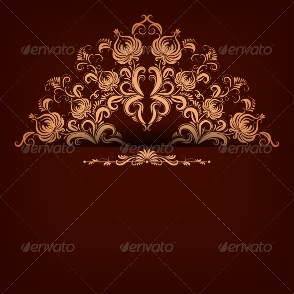 GraphicRiver Background with Lace Ornament 7649502