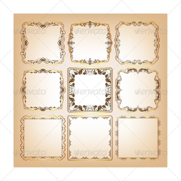 GraphicRiver Set of Square Frames for Greeting Cards 7649527