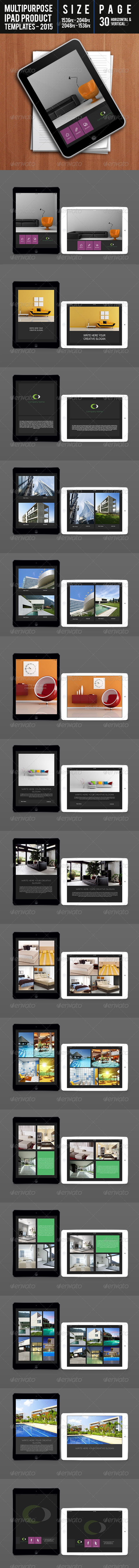 GraphicRiver Multipurpose Ipad Product Templates 2015 7649848