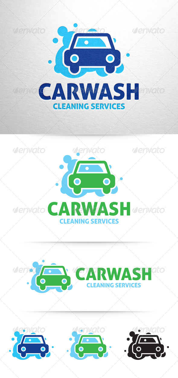 GraphicRiver Car Wash Logo v3 7649885