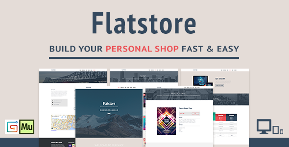 ThemeForest Flatstore eCommerce Muse Theme 7649908
