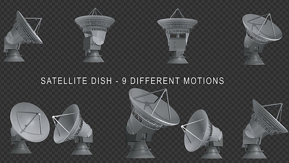 Satellite Dish 9 Different Motions