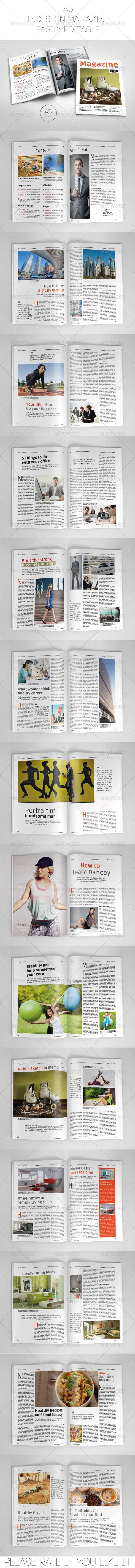 GraphicRiver A5 Magazine Template 7650091