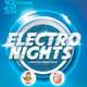 Electro Nights Flyer Template - GraphicRiver Item for Sale