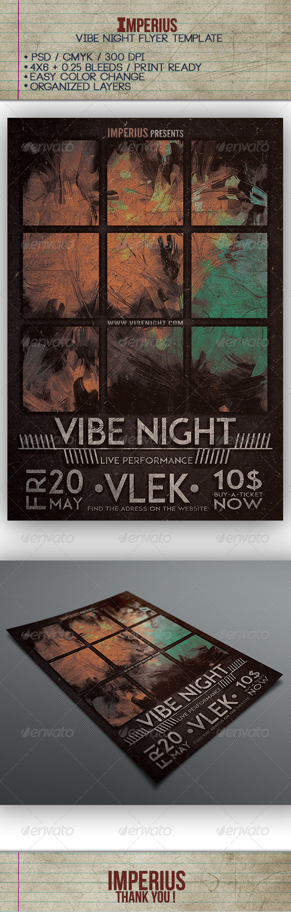 GraphicRiver Vibe Night Flyer 7650340