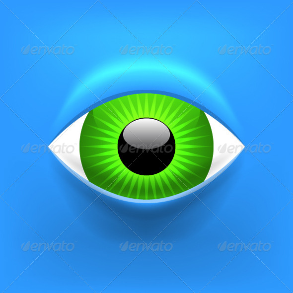 GraphicRiver Abstract Gglossy Eye Background 7650354