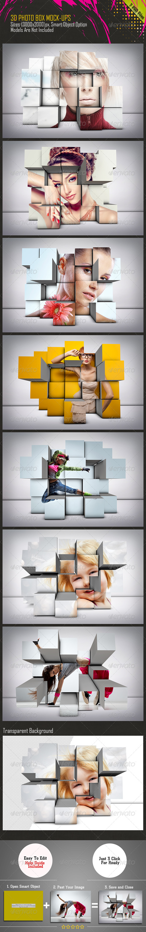 GraphicRiver 3D Photo Box Mockups 7650421