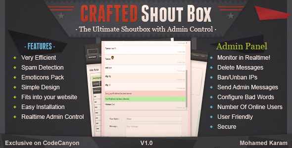 CodeCanyon Crafted Live Shoutbox 7650516