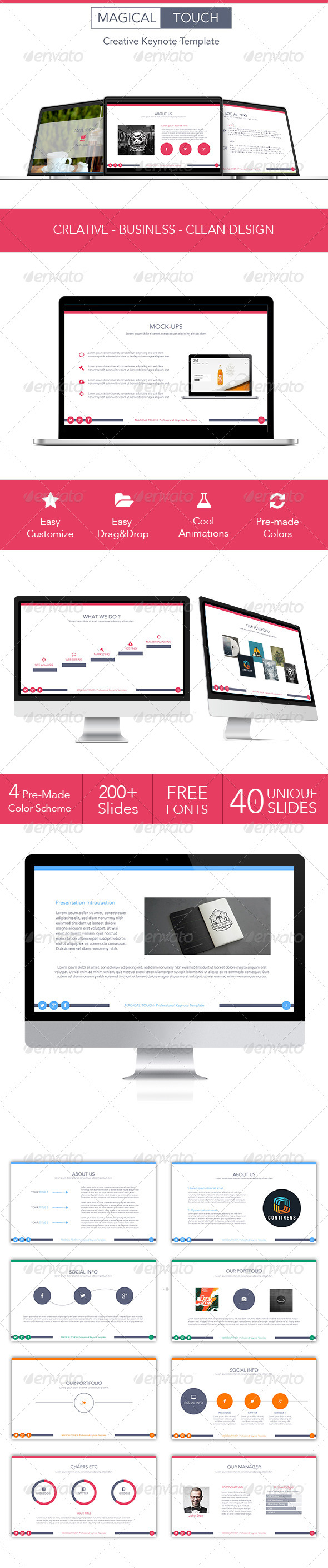 GraphicRiver Magical Touch Keynote Template 7613118