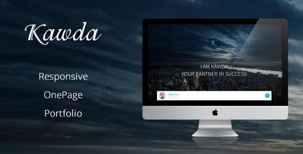 ThemeForest Kawda Responsive One-Page Portfolio 7628589