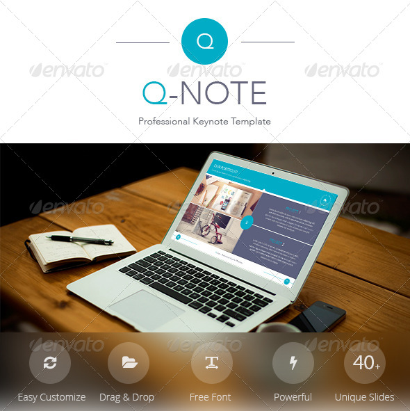 GraphicRiver Q-Note Keynote Template 7632683