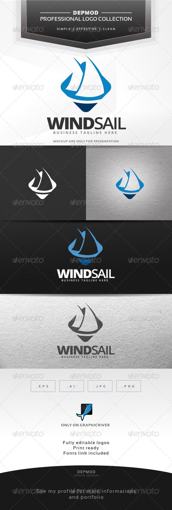 Wind Sail Logo - Symbols Logo Templates