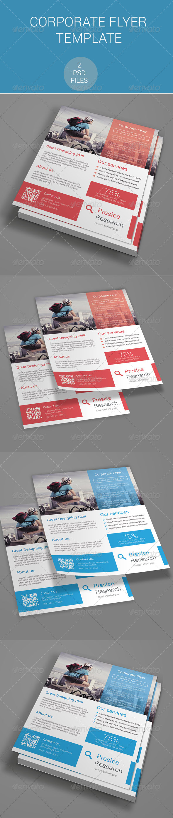 GraphicRiver Corporate Flyer Template 7651036