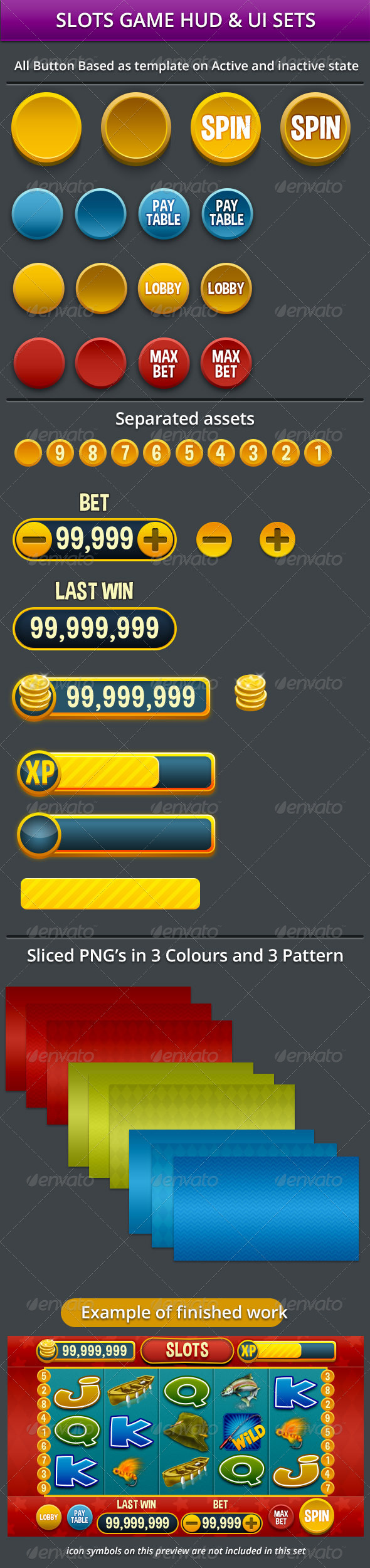 GraphicRiver Slots Game HUD & UI Assets 7646560
