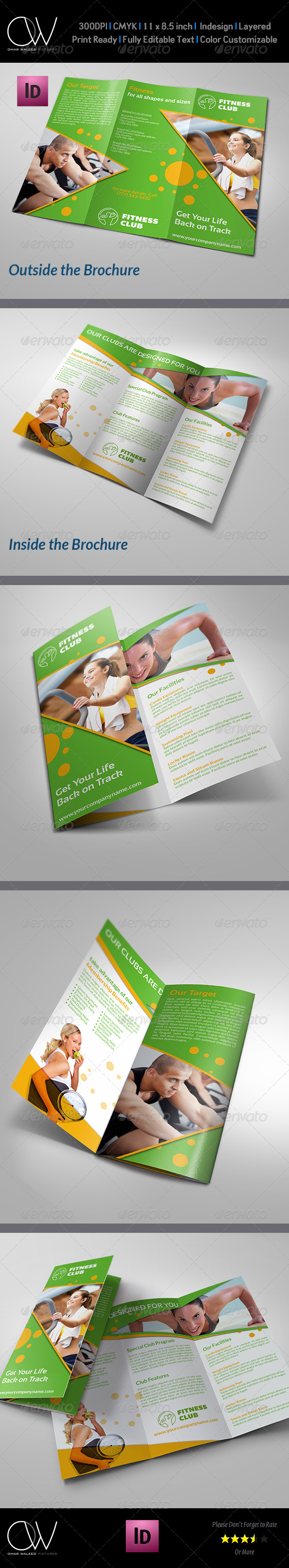 GraphicRiver Fitness GYM Brochure Tri-Fold Template Vol.2 7651292