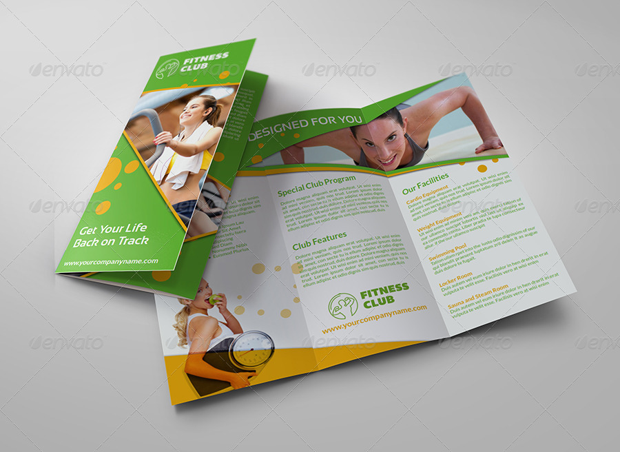 Fitness GYM Brochure TriFold Template Vol2 by OWPictures – Gym Brochure