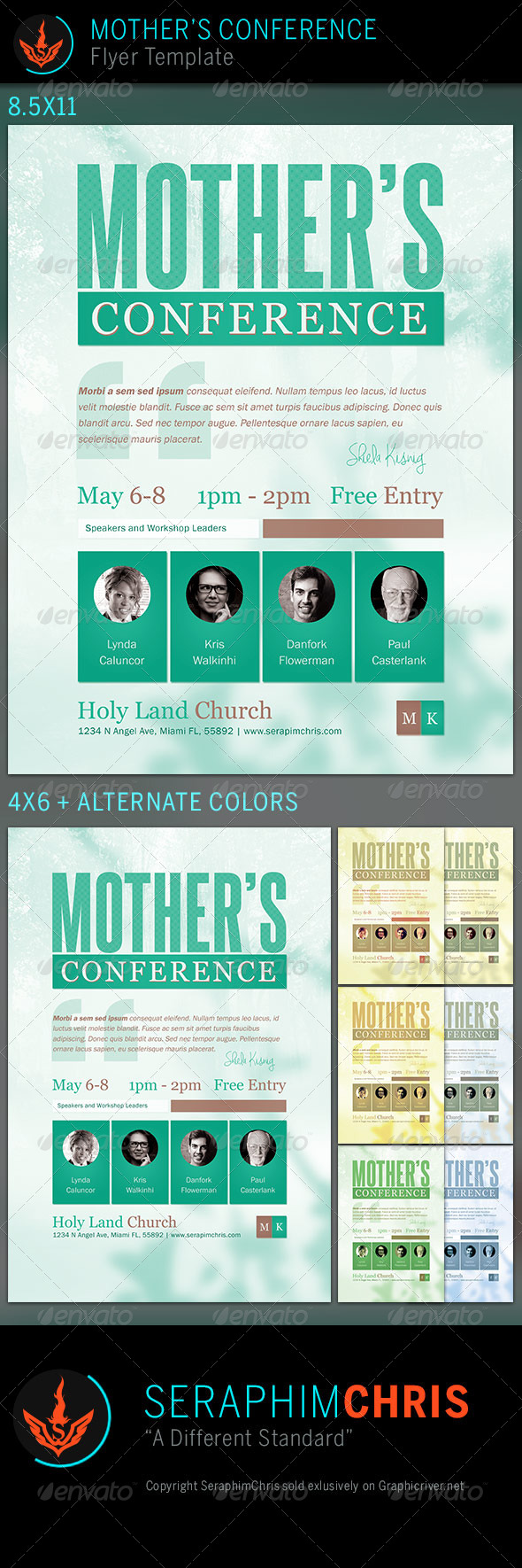 GraphicRiver Mother s Conference Church Flyer Template 7647930