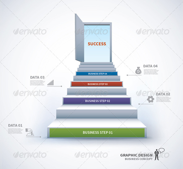 GraphicRiver Staircase Business Step To Success 7651459