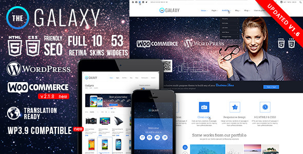 The Galaxy WP - Responsive Multi-Purpose Theme - Corporate WordPress