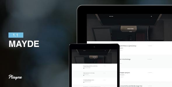 Mayde - Refreshing Blogging Theme
