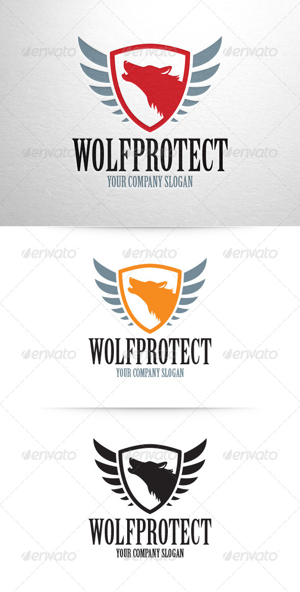 GraphicRiver Wolf Protect Logo Template 7651524