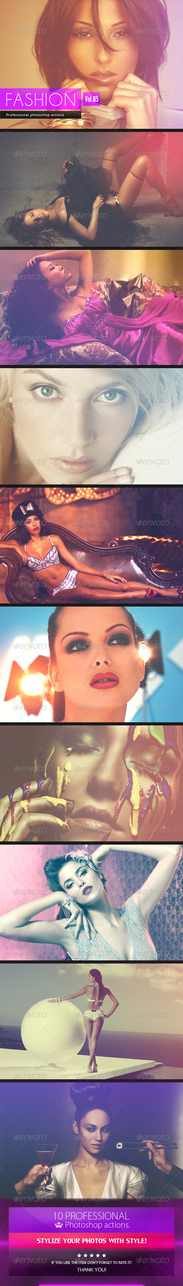 GraphicRiver Fashion Photoshop Actions [Vol.5] 7651571
