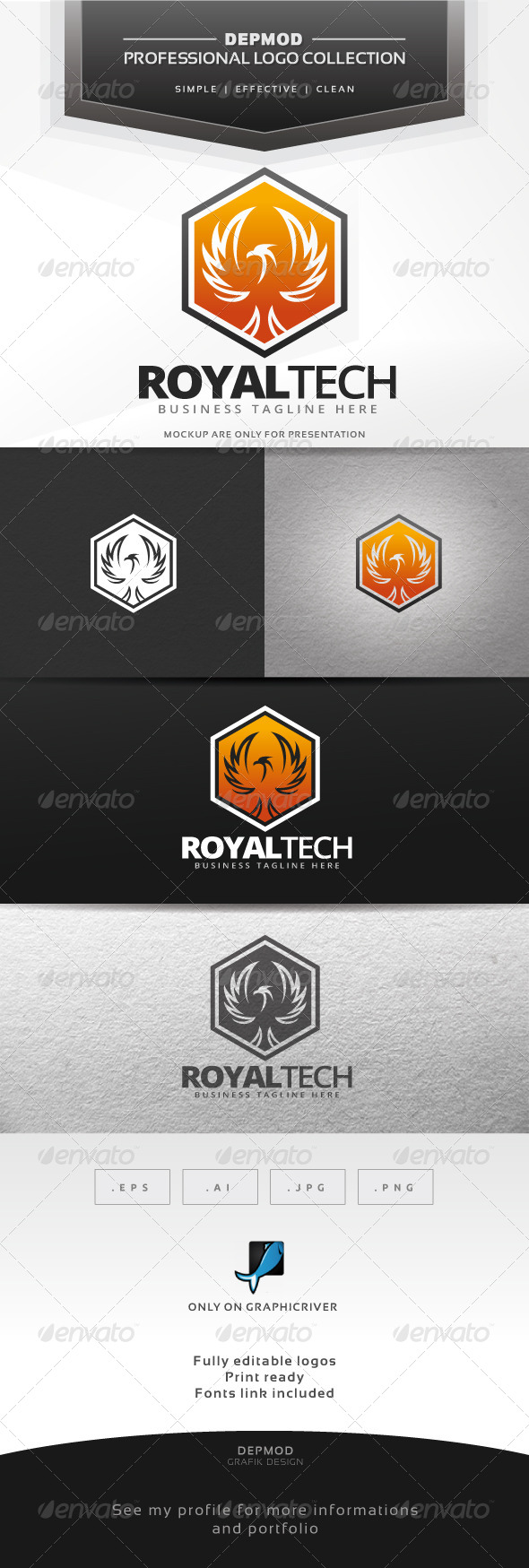 GraphicRiver Royal Tech Logo 7651572