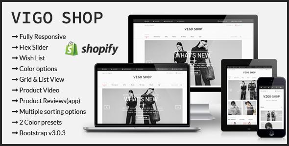 Vigo Shop - Responsive Shopify Theme - Shopify eCommerce
