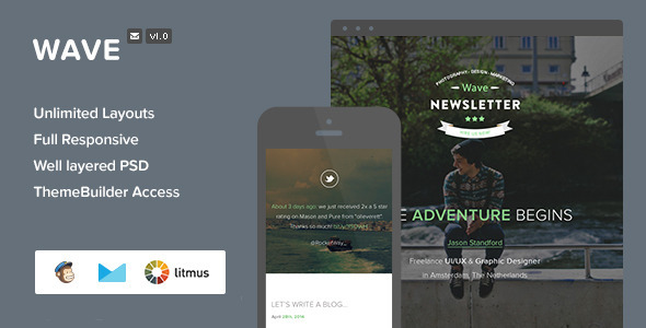 ThemeForest Wave Responsive Email & Themebuilder Access 7652059