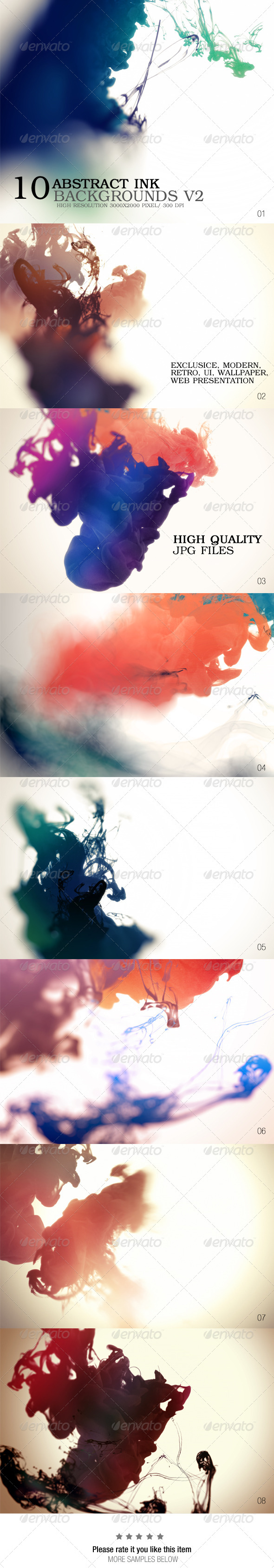 GraphicRiver Abstract Ink Backgrounds V2 7652061