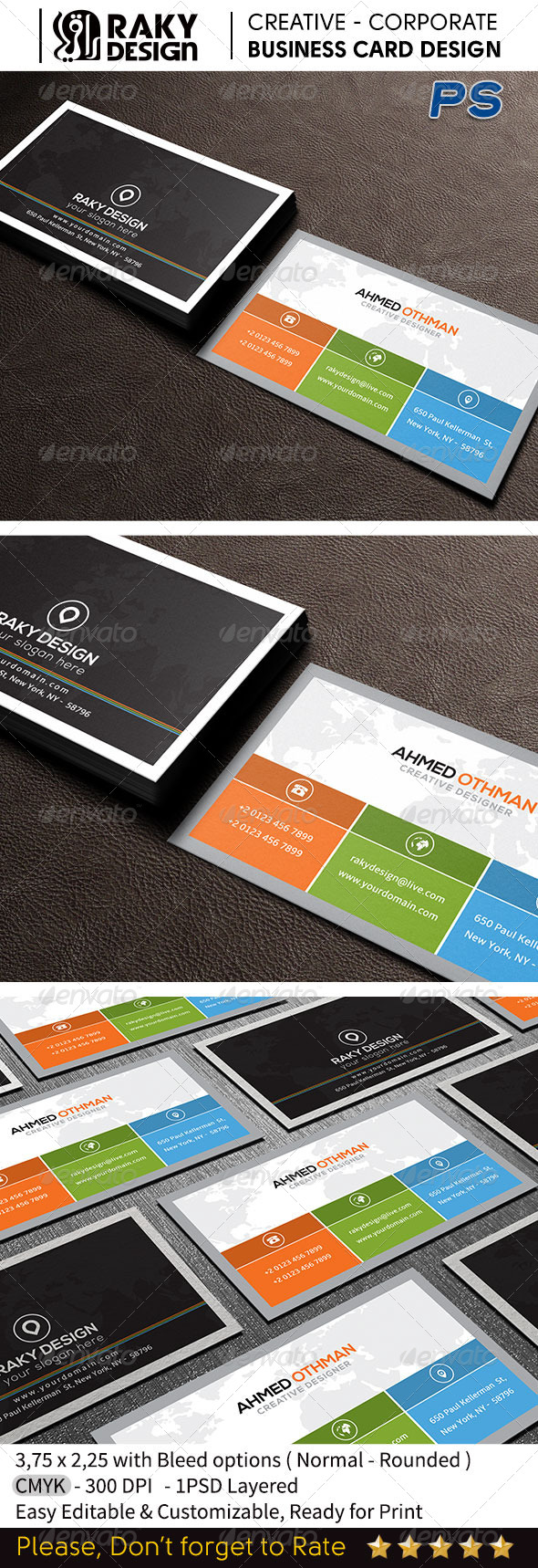 GraphicRiver Minimal Business Card RD16 7652233