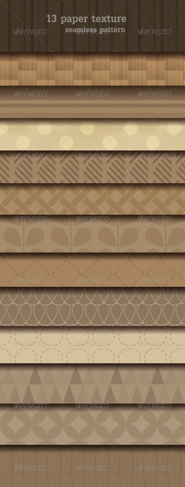GraphicRiver 13 Paper Texture Seamless Pattern 7652319