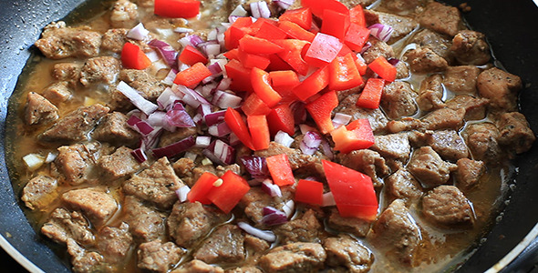 Preparing Dish with Meat and Vegetables 5 Pack
