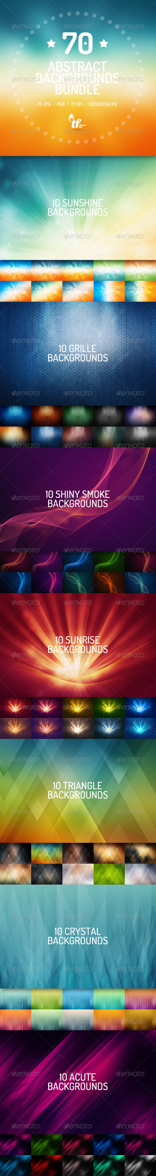GraphicRiver 70 Abstract Backgrounds Bundle 7652423