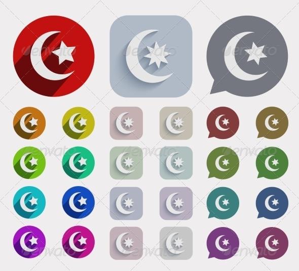 GraphicRiver Flat Ramadan Icons Set 7652435